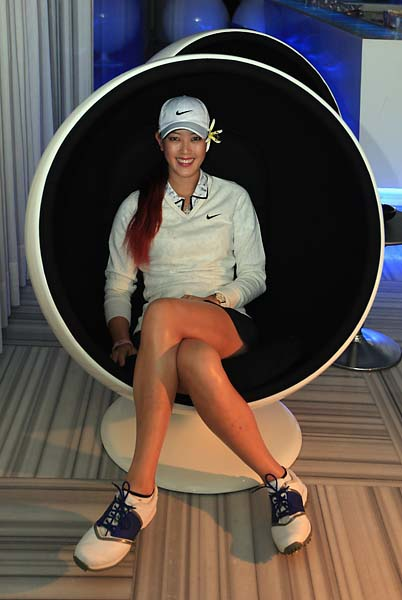 Michelle Wie in the Voda Bar at the Jumeirah Zabeel Saray in Dubai in December 2011.