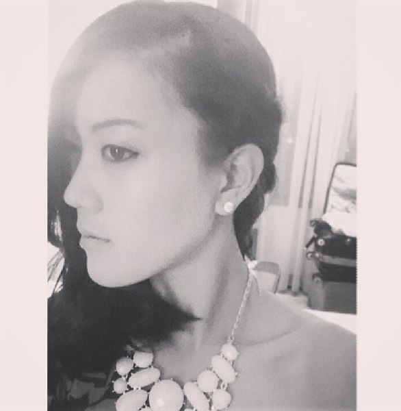 Michelle Wie strikes a glamorous pose in October 2013, via TheMichelleWie on Instagram.
