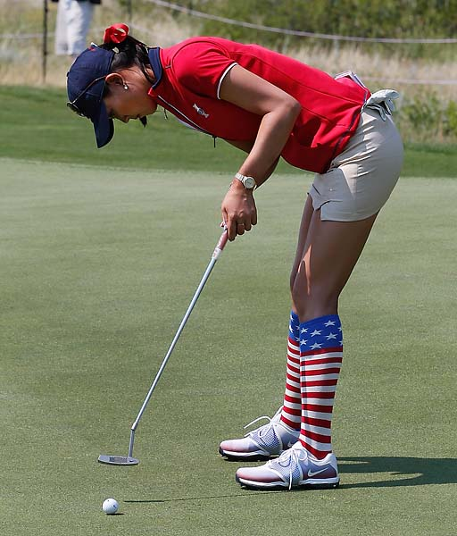"""I've always wanted to be short.""                     --Six-foot-tall Michelle Wie on how she came up with her new bent-over putting stance."