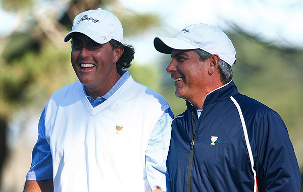 Captain Fred Couples paired Phil Mickelson with Anthony Kim, who he played well with at the 2008 Ryder Cup.