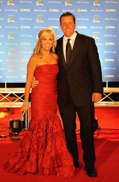 Phil and Amy Mickelson at the 2008 Ryder Cup Gala dinner.