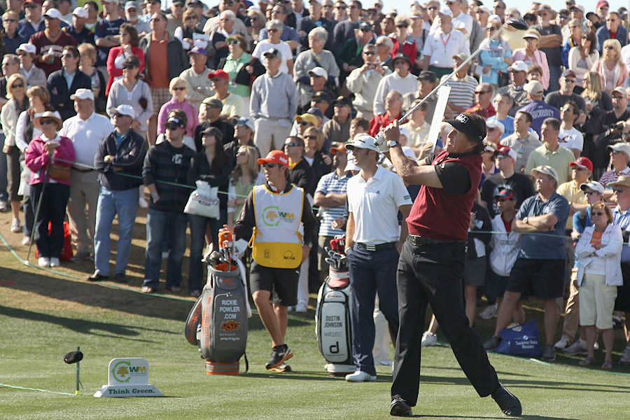 Phil Mickelson got off to a strong start at the Phoenix Open with a three-under 68 on Thursday.