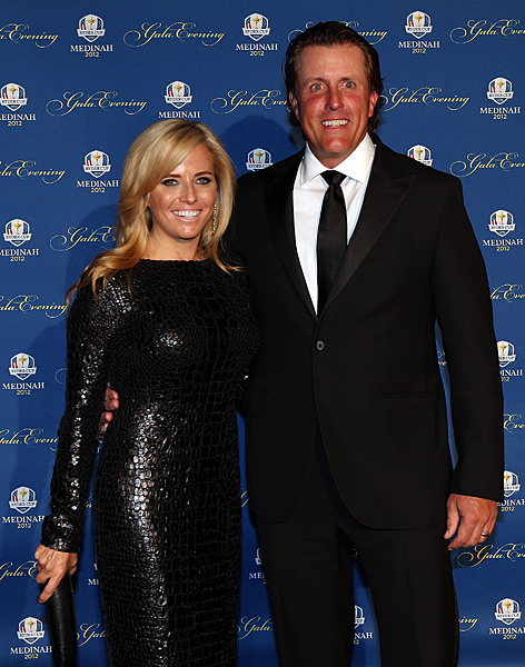 Phil and Amy Mickelson at the Ryder Cup Gala in Chicago on Wednesday night.