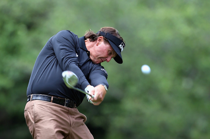 Phil Mickelson shot a one-over 73 Saturday, but he is tied for the lead with Nick Watney heading into the final round.