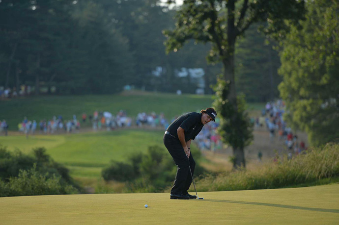 "At the 2013 U.S. Open at Merion, Mickelson started the final round with a one-shot lead, but he shot a final-round 74 to lose to Justin Rose by two strokes. ""I think this was my best chance,"" Mickelson said. ""I think that the way that I was playing heading in, the position I was in and the way I love the golf course."""