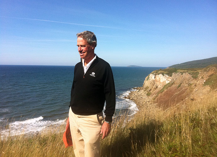 Mike Keiser, 68, Founder of Bandon Dunes Golf Resort: Mike Keiser surveys the land of what will become Cabot Cliffs, located in Nova Scotia's isle of Cape Breton. Keiser says the course is about a year away from completion.