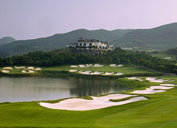 Mission Hills Resort Shenzhen (Olazabal), Shenzhen, China                       Twelve courses, three clubhouses, one of them 630,000-square-feet, adds up to the Guinness Book of World Records' biggest golf club on earth. Most striking of the dozen is the Olazabal spread, designed by Brian Curley, with input from the Spanish maestro, which features wild elevation changes and bold bunkers.