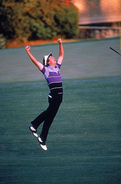 Augusta native Larry Mize holed a 140-foot birdie chip on No. 11, the second playoff hole, to defeat Greg Norman in 1987.