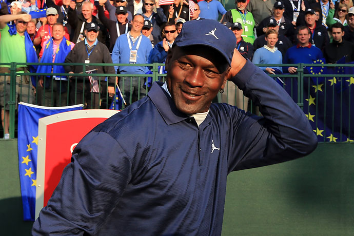 """Ian is a tough character. When I poked at him a little bit he kind of responded.""                       Michael Jordan on trying to get in Ian Poulter's during afternoon four-ball at the 2012 Ryder Cup. Poulter and Rory McIlroy defeated Jason Dufner and Zach Johnson 1-up."