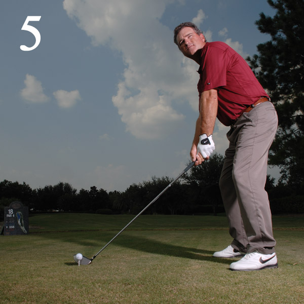 5. Target Your Focus                       Picture landing the ball                       in a bull's-eye and erase                       any negative thoughts.                       Your first tee shot is                       important: The positive                       emotions that come with                       getting off to a good start                       can send your energy                       and focus to the level you                       need to play your best.