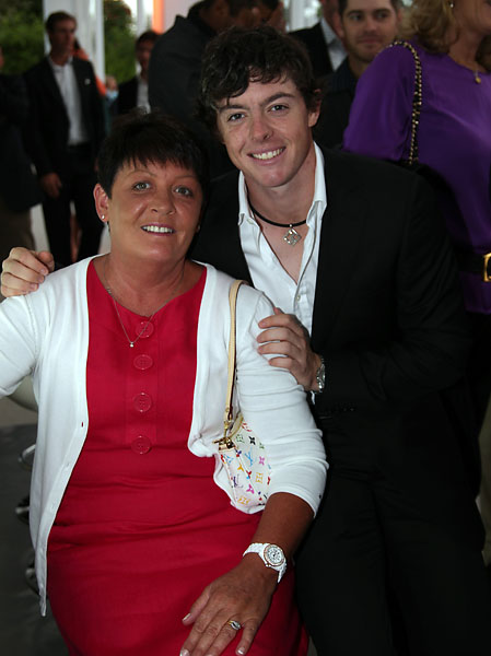 Rory McIlroy and his mother Rosie at the Welcome Dinner for the Volvo World Match Play Championship at Finca Cortesin on May 17, 2011, in Casares, Spain.