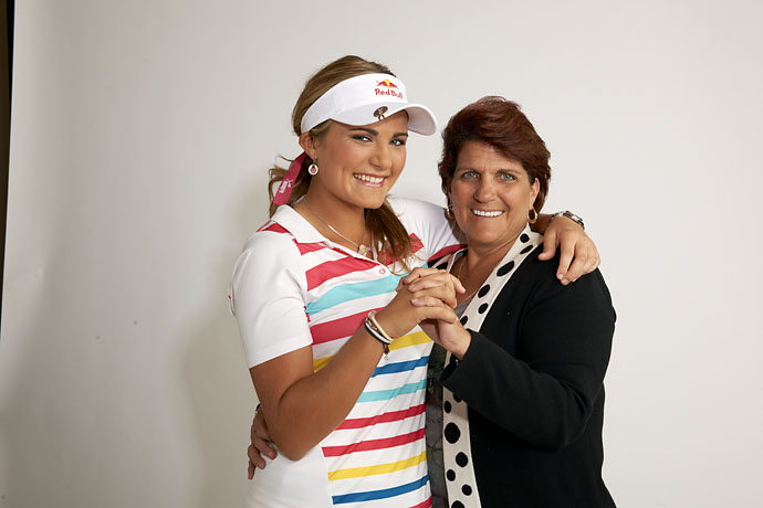 Sports Illustrated portrait of Lexi Thompson with her mother, Judy Thompson, in New York City on Oct. 18, 2011.