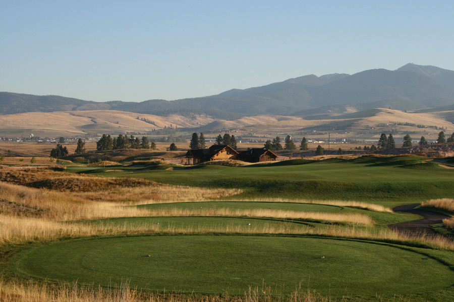 The home is right off the 18th green at The Ranch Club.