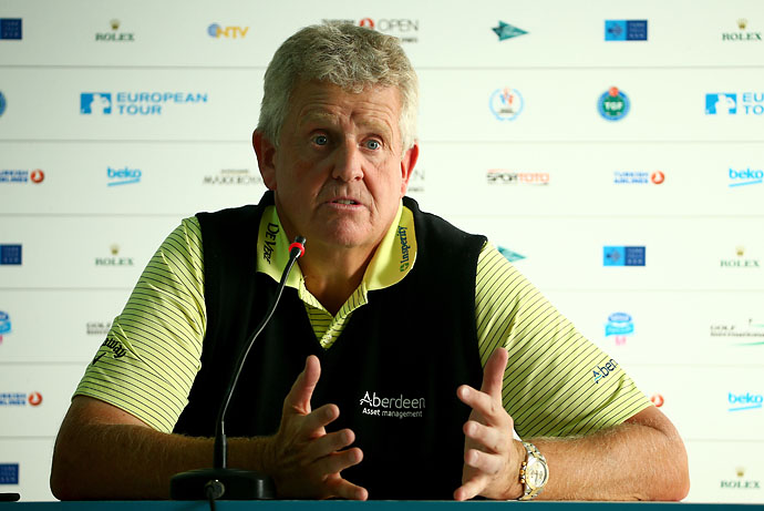 """You were never going to rely on Bernhard Langer to beat himself. You always had to go and beat Bernhard Langer. He was never going to give you anything.""                     --Colin Montgomerie on the toughest competitior he ever faced."