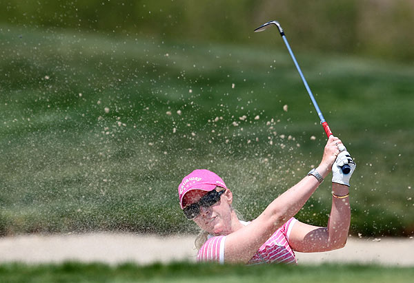 Morgan Pressel made only one birdie and no bogeys in her final round. She finished at 15 under par.