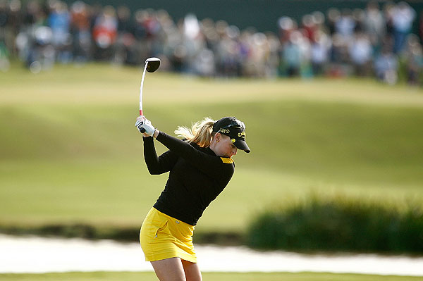 birdied the first three holes on Thursday. She shot an even par 72.
