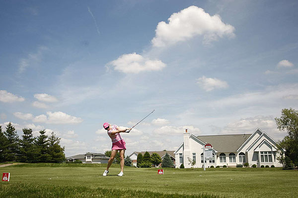 Morgan Pressel shot a three-under 67