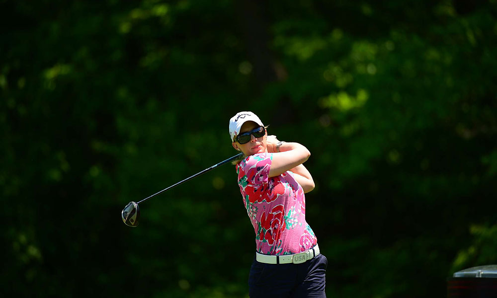 Morgan Pressel will continue to the third round after beating Inbee Park, 3 and 2.