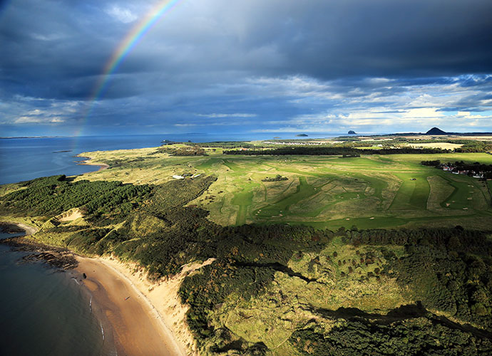"""Muirfield, Gullane [011-44-1620-842123, muirfield.org.uk]: Ranked No. 10 in the World, the club is more formally known as """"The Honourable Company of Edinburgh Golfers,"""" but its simpler name, """"Muirfield,"""" is what inspires awe and reverence, which was emphatically renewed during Phil Mickelson's remarkable 2013 Open win. With few blind shots, outstanding change of direction and superior strategic bunkering, Muirfield is the favorite Open venue of many."""
