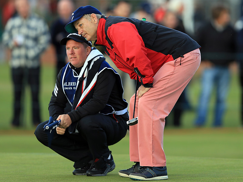 Murray knows that your caddie is your best friend on tough Scottish links courses.