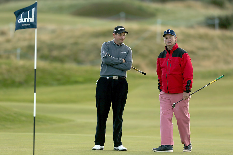 Comedian Bill Murray was paired with pro David Howell in the first round at Carnoustie.