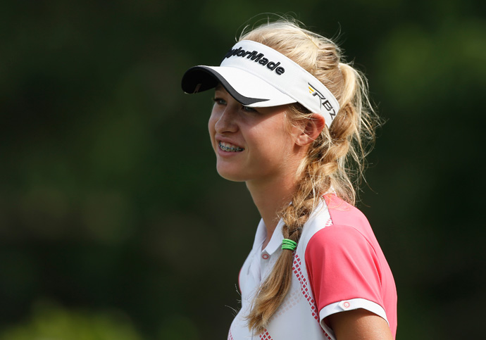 Amateur Nelly Korda made the cut by one stroke.