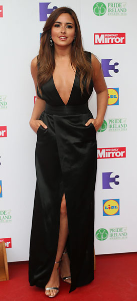 Nadia Forde arrives for the Pride of Ireland awards celebrating the country's unsung heroes at the Mansion House in Dublin on March 7, 2014.