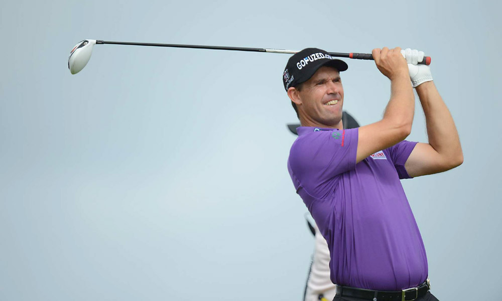 Padraig Harrington was one over through 10 holes in the second round and one under for the tournament.Padraig Harrington was four over on day 2.