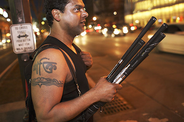 9:01 p.m., 17th St. & West Side Hwy. Ran Sarkar is going great guns.