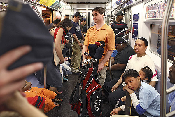 8:57 p.m., 4 Train The subway is Ryan Knopp's 19th hole.                                               More From GOLF.com                       • Aerial photos of Bethpage Black                       • Locals on Bethpage's toughest holes                       • Complete U.S. Open coverage