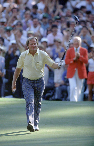 """No. 1                     """"The Bear has come out of hibernation."""" Jack Nicklaus makes birdie after almost acing the 16th hole on Sunday at the 1986 Masters.                                           Nantz's best call comes during the most legendary Masters Sunday when Nicklaus made an improbable back-nine charge to win at age 46. """"I must confess that I was so nervous my teeth were chattering involuntarily. I was worried that the noise emanating from my clicking molars would be picked up by my open microphone,"""" Nantz told CBS."""