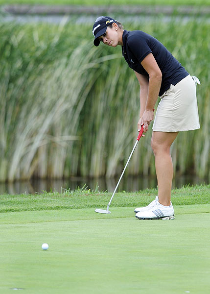 First Round of the McDonald's LPGA Championship                   Nicole Castrale made birdie on six of the first nine holes for a one-stroke lead in the LPGA's second major of the year.