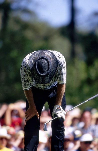 In 1996, Greg Norman started the final round with a six-shot lead but collapsed, shooting 78 to lose by five strokes to Nick Faldo.