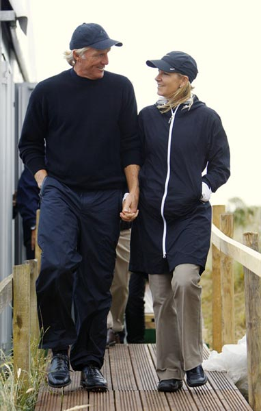 "Evert Effect                       Is Chrissie a performance enhancer?                                              During his improbable run at  a third British Open,  53-year-old Greg Norman said,  ""The least of my worries was getting  out there and practicing. My mind has  really been elsewhere."" He was referring to his new wife, former tennis  star Chris Evert, 53, whom he married  on June 28 in the Bahamas. He's not  the first man to thrive when his mind  was on Chrissie. Consider the following."