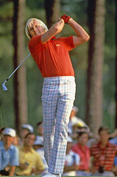 "Greg Norman burst onto the golfing scene at the 1981 Masters, where he finished tied for fourth in his first start at Augusta. Norman was also given his nickname ""The Great White Shark"" after reporters learned that he swam with sharks as a kid."