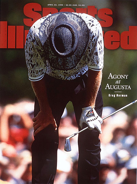 "Norman's collapse was featured on the cover of SI with the title ""Agony at Augusta."""