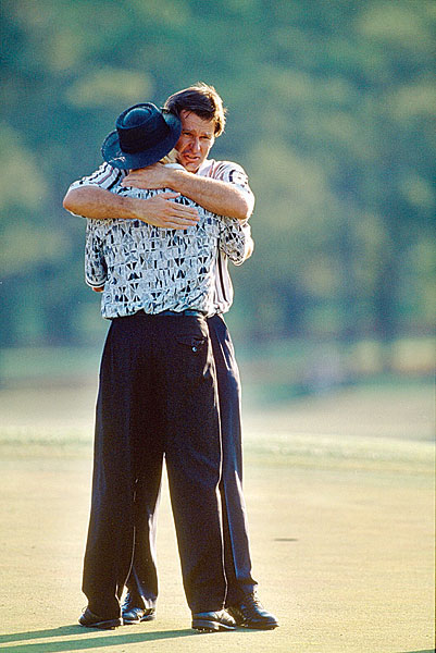 Two years later, Norman suffered his most crushing loss at the 1996 Masters. He went into the final round with a six-shot lead and looked poised to finally win a green jacket. But Norman collapsed with a final-round 78, while Nick Faldo fired a 67 to win.