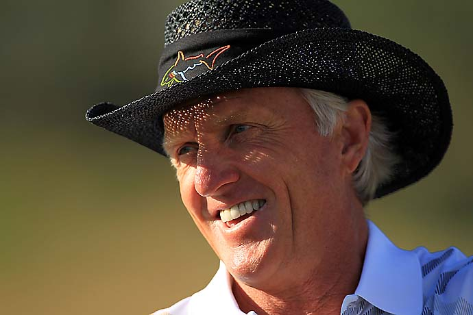"""I think he's a better driver of the ball than I ever was.""                     --Greg Norman on Adam Scott."