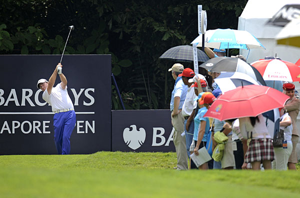 Graeme McDowell made four birdies and a bogey for a three-under 68.