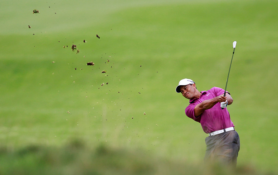 Things began to turn around for Woods when he made birdie at the par-5 8th.