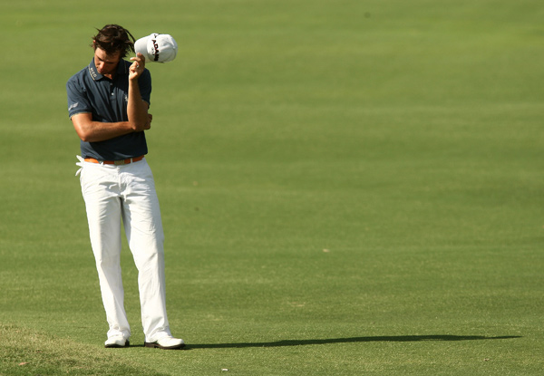 made an eagle, four birdies and a double bogey for a 68.