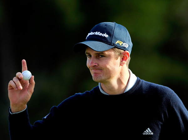 Justin Rose leads Casey Wittenberg, Greg Owen and Rickie Fowler by one shot after a bogey-free 65.