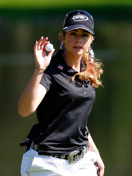 Paula Creamer, Mariajo Uribe and Jiyai Shin are two shots behind leader Song-Hee Kim.