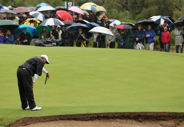 """If I had putted normally, that's a couple of shots each day and I'm right there in the tournament,"" Woods said."