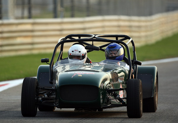 Villegas drove a Caterham car during the race driving experience.