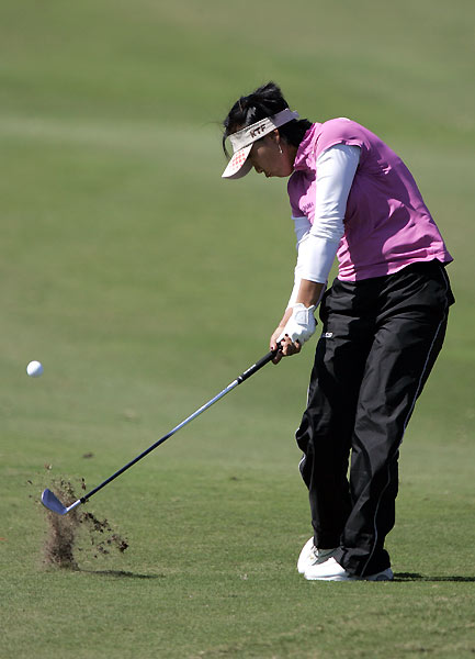 First-round co-leader Mi Hyun Kim shot a two-under 70.