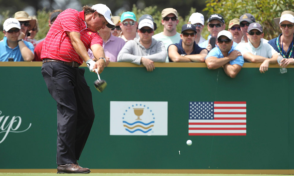 Phil Mickelson had yet another solid day, joining with Jim Furyk to win their second match in as many days.