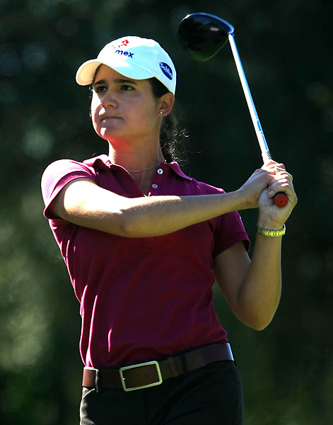Lorena Ochoa shot a 3-over 75. She is seven strokes off the lead.
