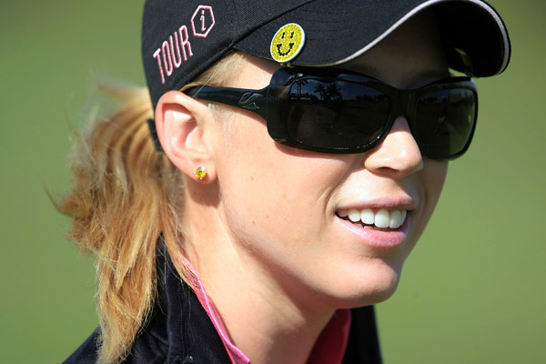 Morgan Pressel made two double bogeys on the back nine to miss the cut.