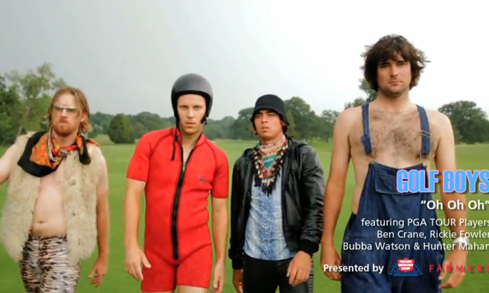 "Oh Oh Oh...boy. PGA Tour players Ben Crane, Rickie Fowler, Hunter Mahan and Bubba Watson put on their finest duds and most ironic game-faces to promote Crane's charity with a rap-tastic music video. Golf Boys' ""Oh, Oh, Oh"" was so successful that it inspired a tribute vid from four Ladies European Tour players. While neither group impressed many with their musical stylings, the men made a bigger splash (mostly by showing significantly more skin than the ladies). And there's a silver lining to the Golf Boys' musical abomination; as TIME Magazine music critic Claire Suddath put it, ""I feel good knowing that when I see this video, I'm indirectly giving 10 cents to charity."" Keep up the good work, gentlemen."
